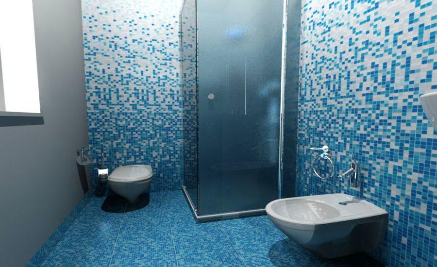 Piastrelle bagno turchese esempio di una stanza da bagno con